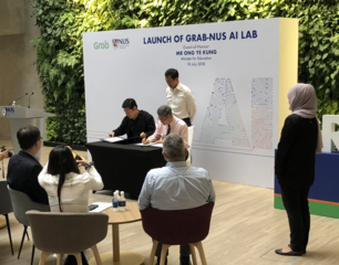 Grab-NUS AI Lab launch on 18 July 2018
