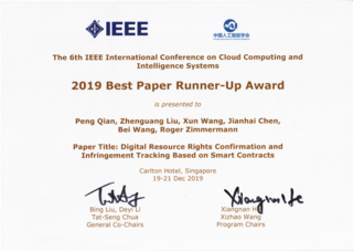 IEEE CCIS 2019 Best Paper Runner-Up