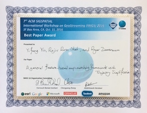 IWGS 2016 Best Paper Award on 31 October 2016